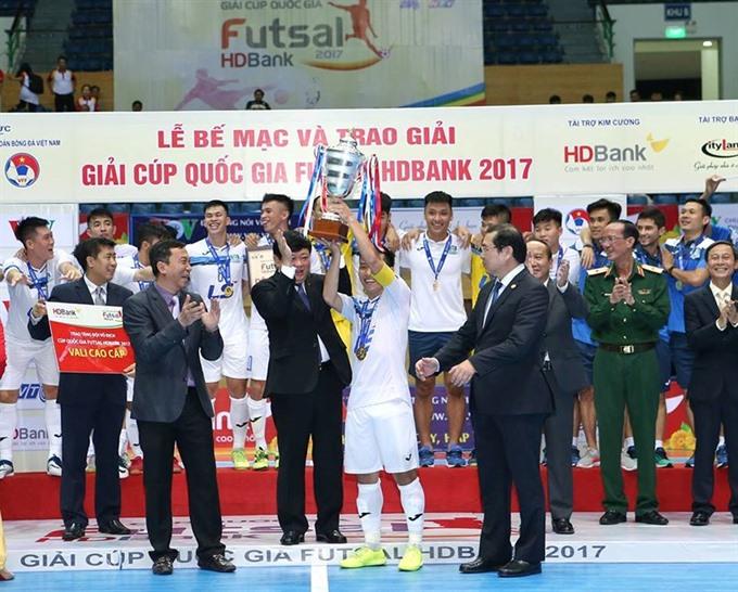 Thái Sơn Nam win National Futsal Cup