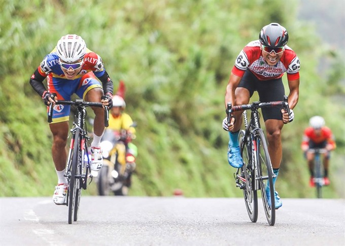 Thái wins third stage of cycling event