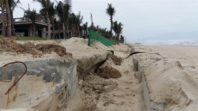 Đà Nẵng beaches face worst erosion in decades