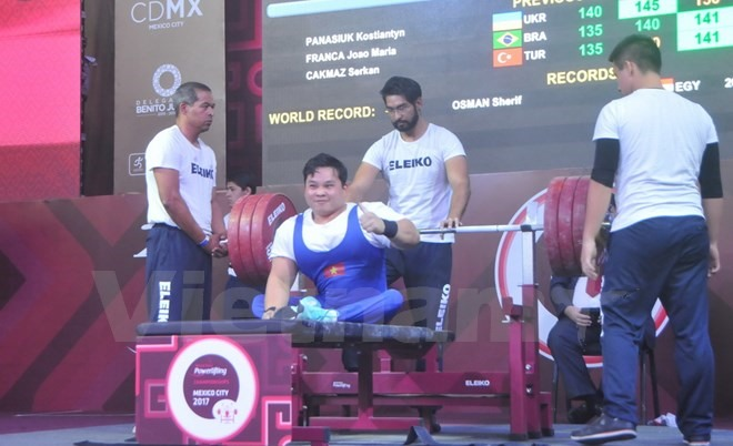 An wins silver at world para powerlifting champs