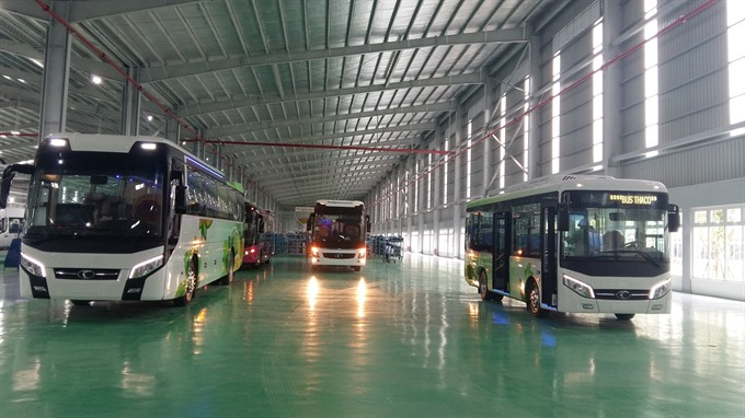 Factory rolls out first made in Việt Nam buses