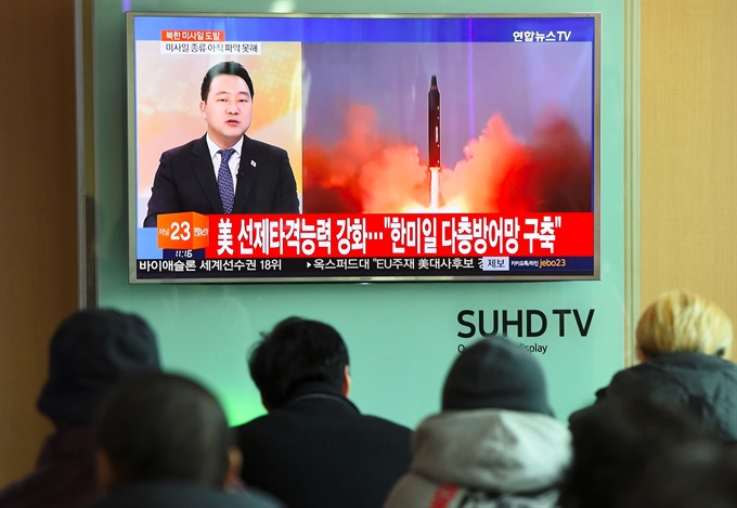 N. Korea fires ballistic missile drawing tough response from Trump