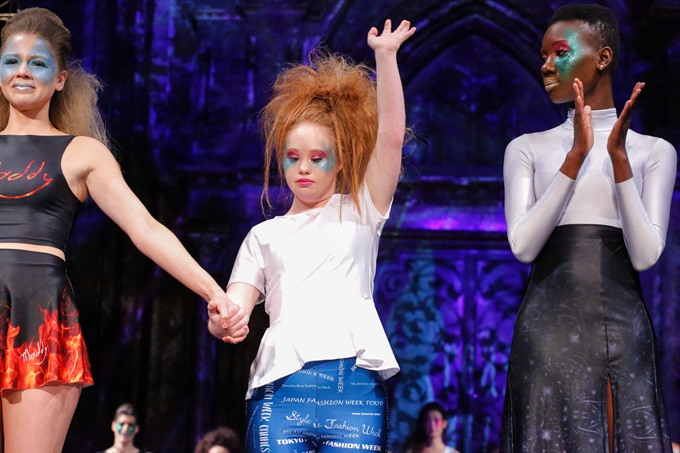 Downs Syndrome model debuts label at NY fashion week