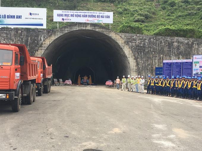 Construction of Hải Vân Tunnel 2 begins
