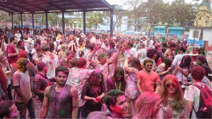 Indian festival of colours organised in HN