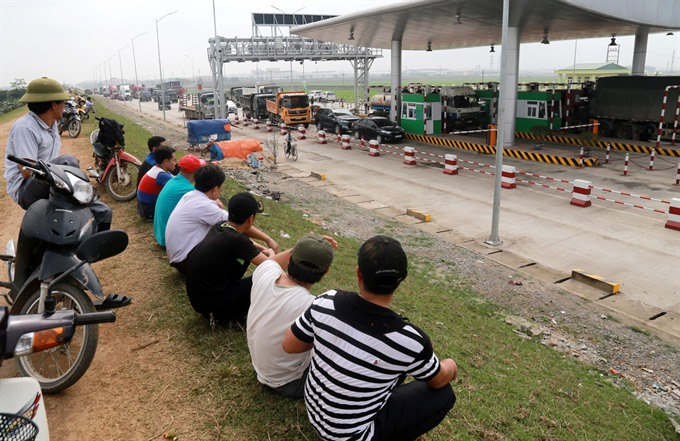 Tam Nông toll station temporarily halts toll collection