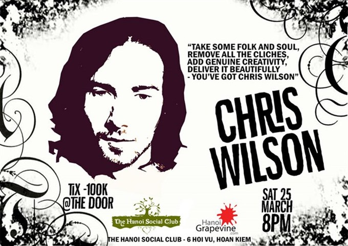Live folk soul and blues with Chris Wilson