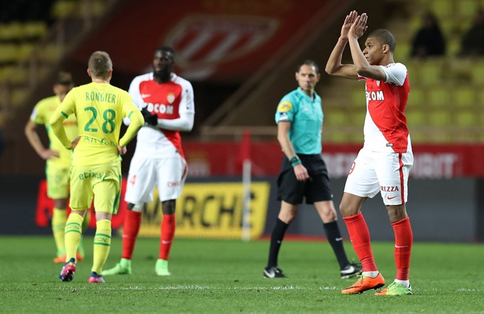 Teenage sensation Kylian Mbappe punished Nantes to a 4-0 victory