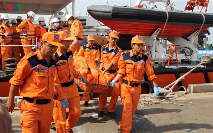 Bodies of nine crewmen of sunken ship found