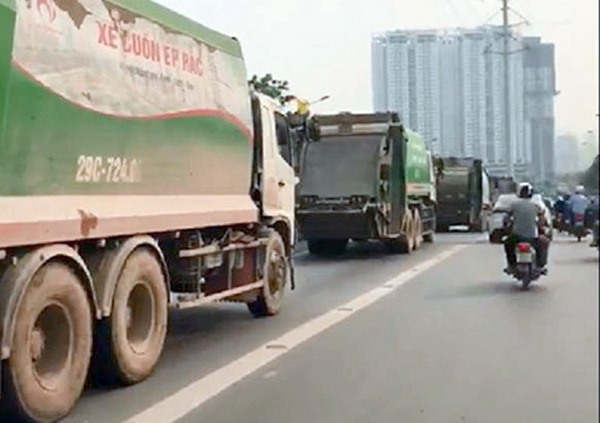 Garbage trucks drivers to be fined for violation