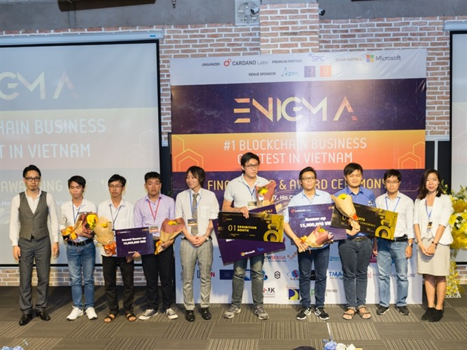 Three start-ups win blockchain contest in VN