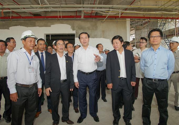 President checks APEC preps