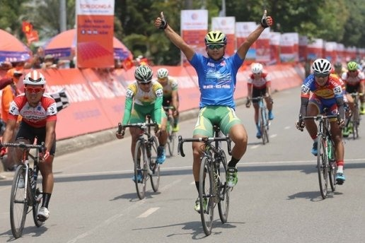 Minh wins 10th stage of cycling event