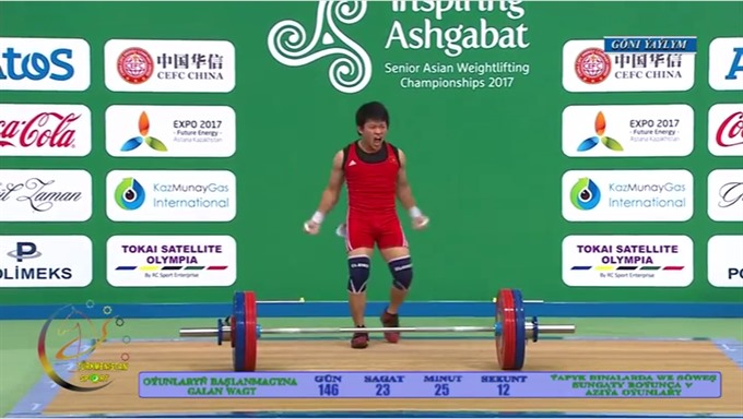 Toàn wins gold at Asian weightlifting champs
