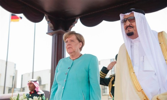 German chancellor in Saudi for G20 cooperation talks