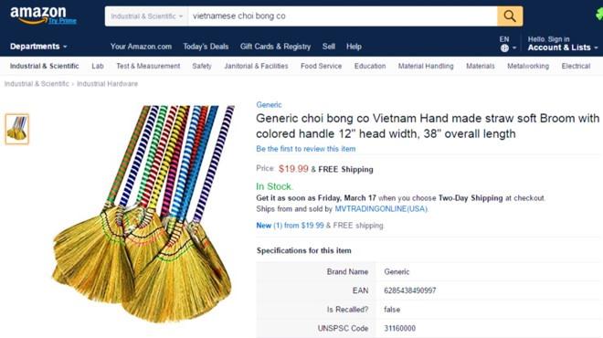 Vietnamese goods seek market opportunities through website Amazon