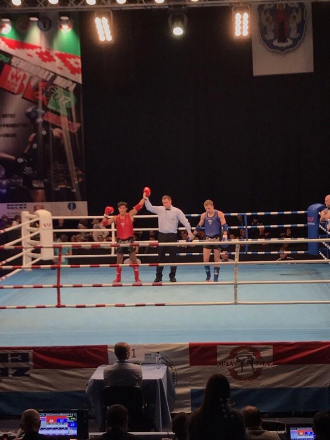 Vietnamese muaythai fighters in world championship finals
