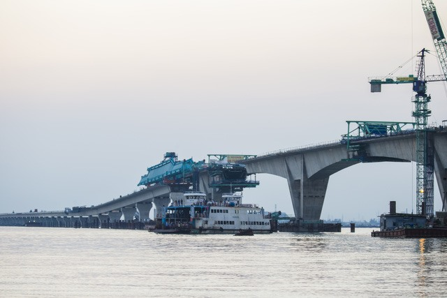SE Asias longest cross-sea bridge close to completion