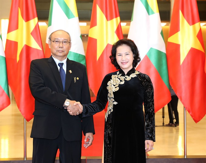 Vietnamese Myanmar top legislators hold talks to seek stronger ties