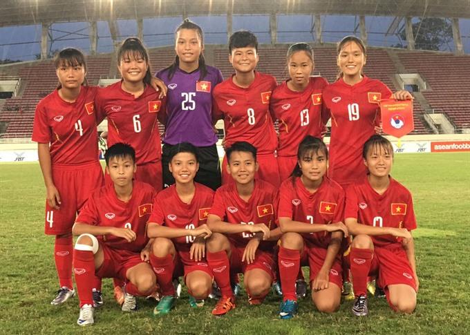 VN beat Laos in AFF U15 football tournament