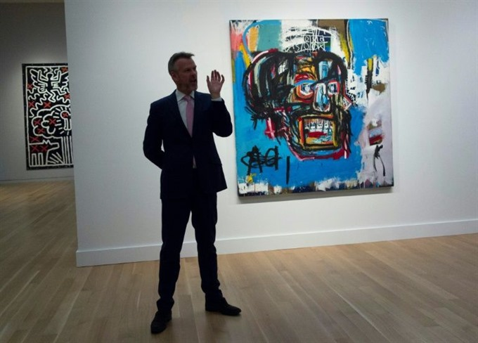 Auction record for Basquiat at 110.5 mn in New York