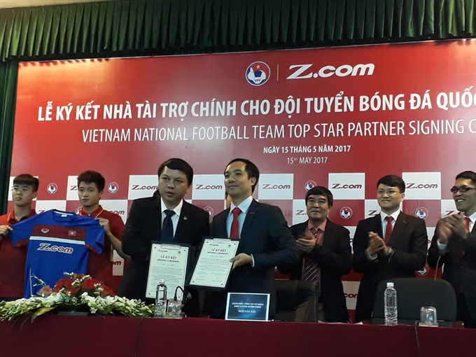 Z.com to be national football teams main sponsor