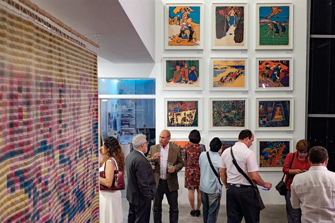 Poster exhibition of Cuban artist displayed in the capital