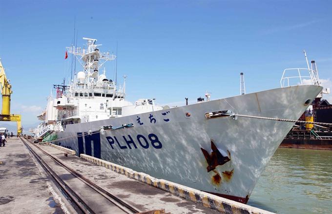 Japan Coast Guard ship starts VN visit