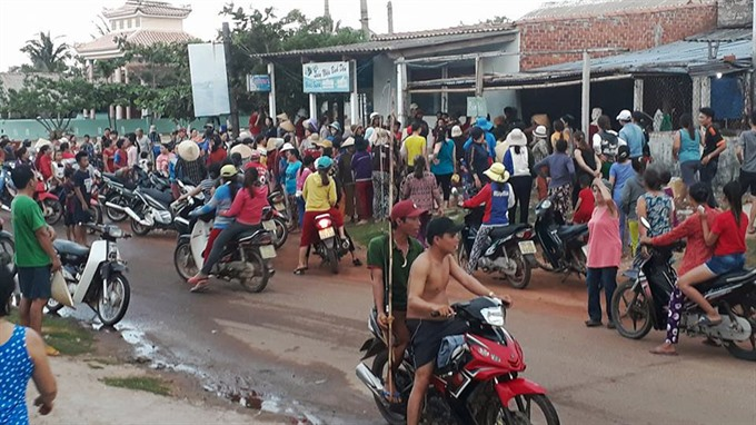 Locals protest against titanium mining in southern province Bình Định