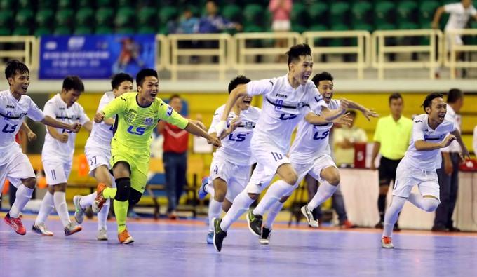 Thái Sơn Bắc tie 2-2 with Sài Gòn