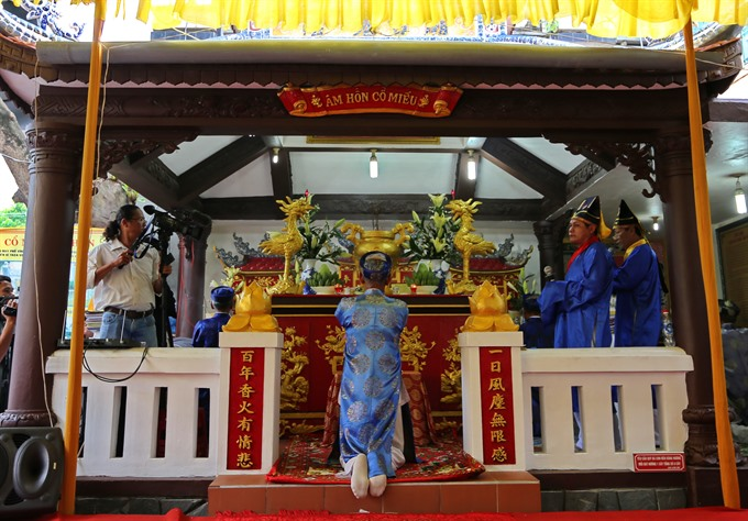 Huế remembers victims of 1885s citadel falling incident