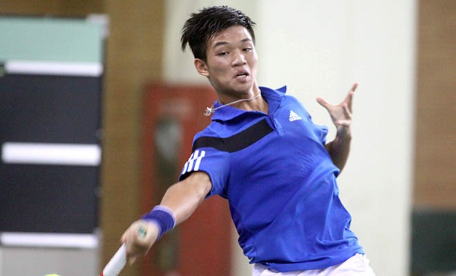 Thiên loses singles stay to play doubles