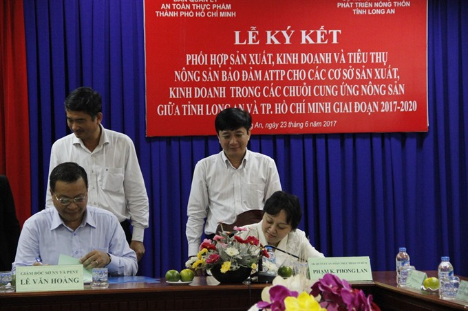HCM City and Long An Province to ensure safety of agricultural products
