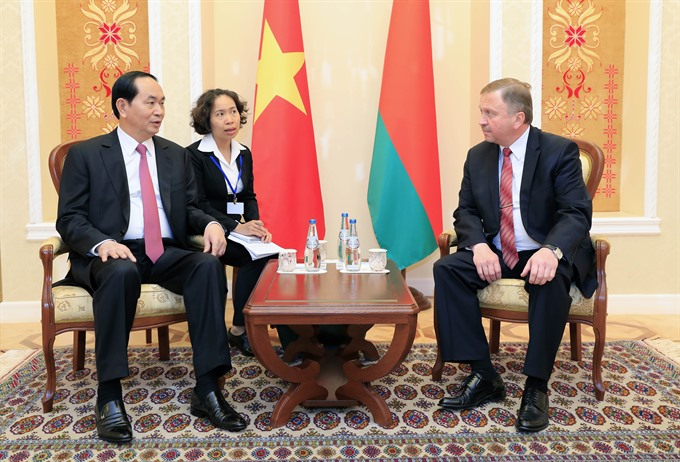 President Trần Đại Quang seeks more investment projects with Belarus