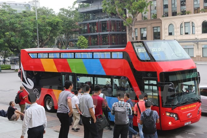 Double-decker tourist bus starts trial run in capital