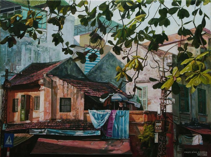 Paintings reveal tranquil side of Hà Nội