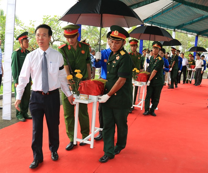 Ceremony and reburial held for MIA during 1968 Biên Hòa airbase attack