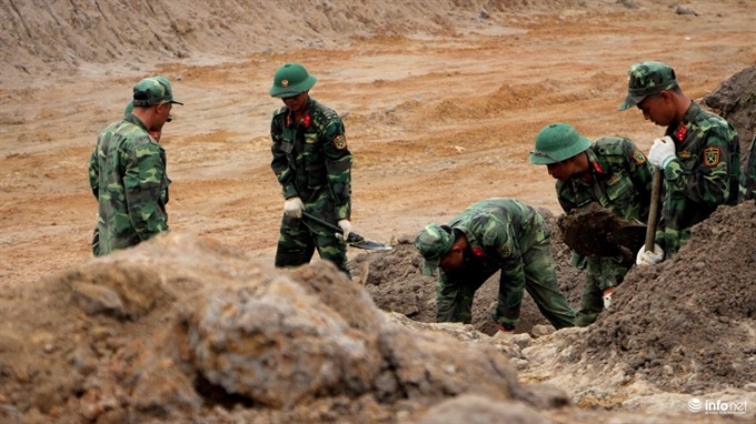 VN war-era mass grave excavation begins at airport