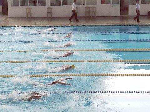 Junior swimming event gets underway