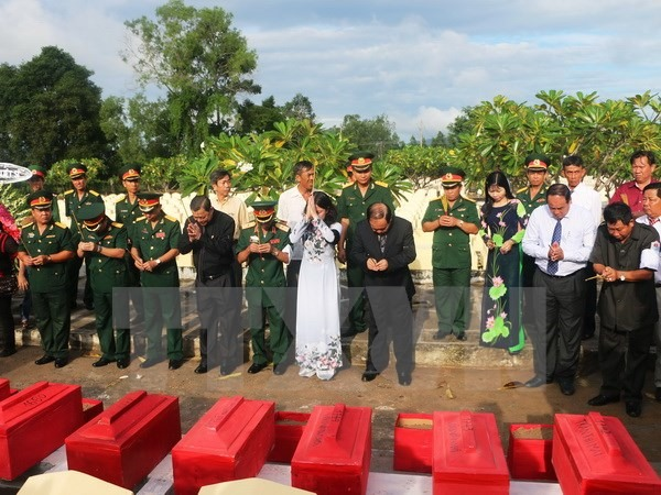 Memorial services held for remains of soldiers