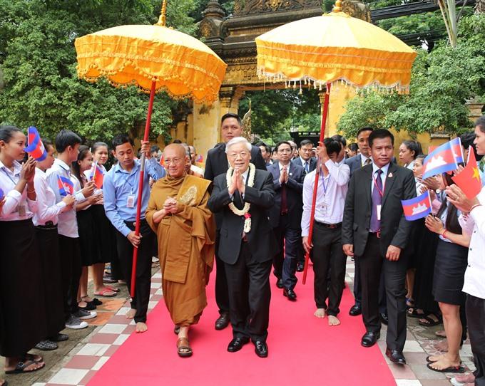 Party leader hails VN-Cambodia amity