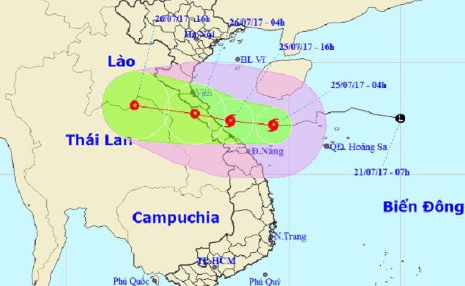 Sonca storm to hit central Việt Nam