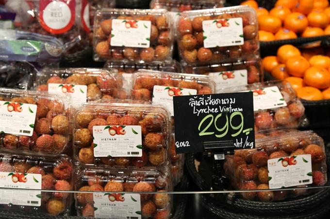 Vietnamese lychees enter Thai market