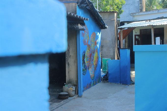 Art changes island village