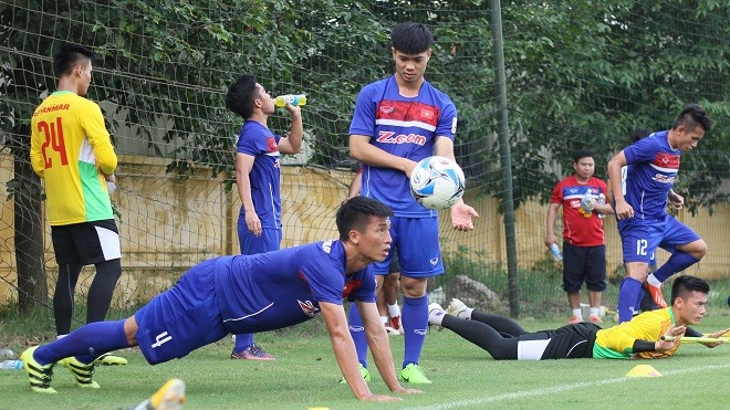 U22 team train for SEA Games AFC event