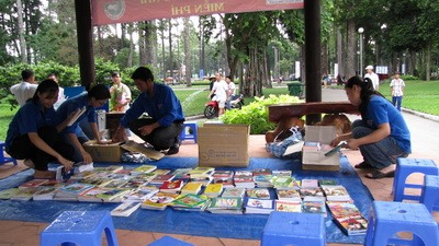 Reading corner at HCM City park