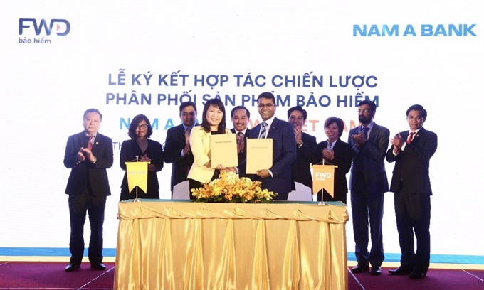 Nam A Bank signs bancassurance partnership with FWD