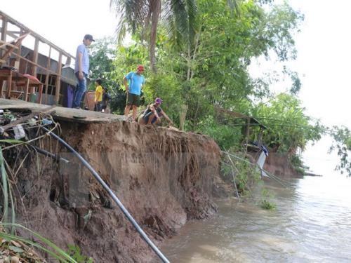 Land subsidence rising seas threaten Mekong Delta