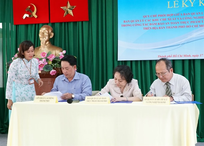 Agencies sign agreement on food-safety at IPs EPZs