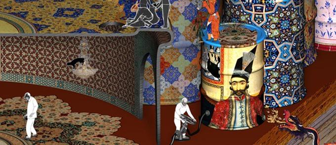 Exhibition displays online games